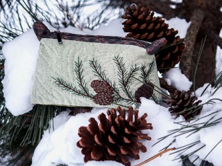 ' I love winter ' Pouch